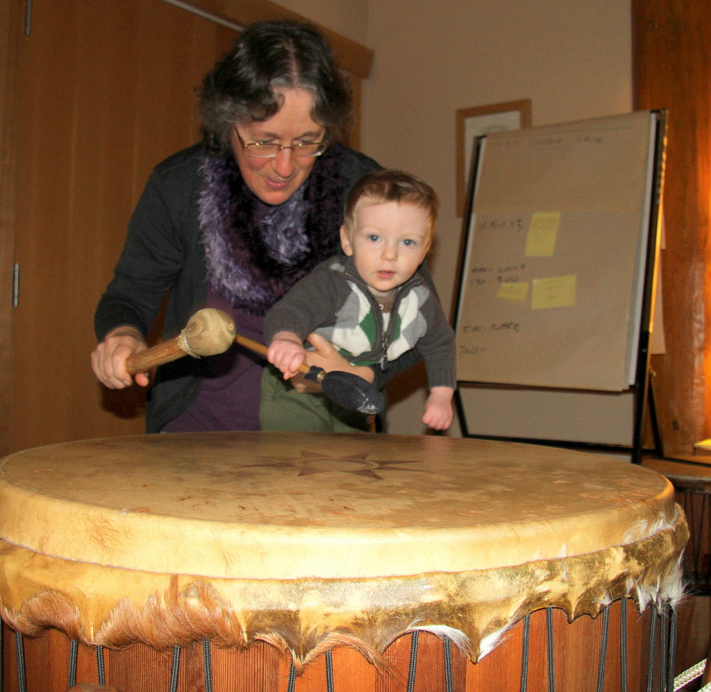 Shasta Colin and Grandmother Drum